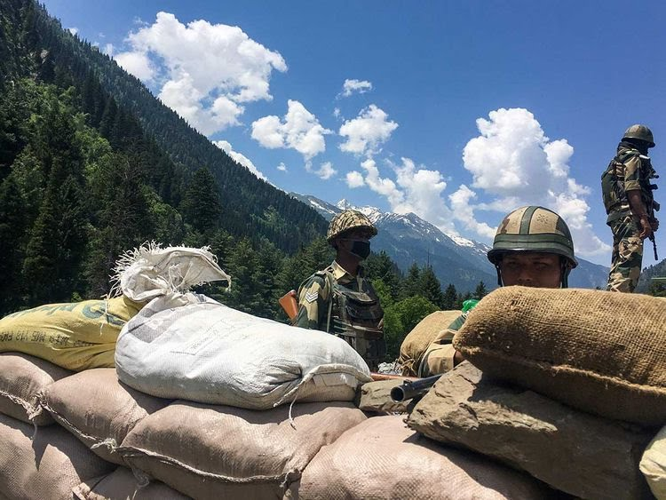 Indian Border Security Force (BSF) soldiers China border Gagangir Leh